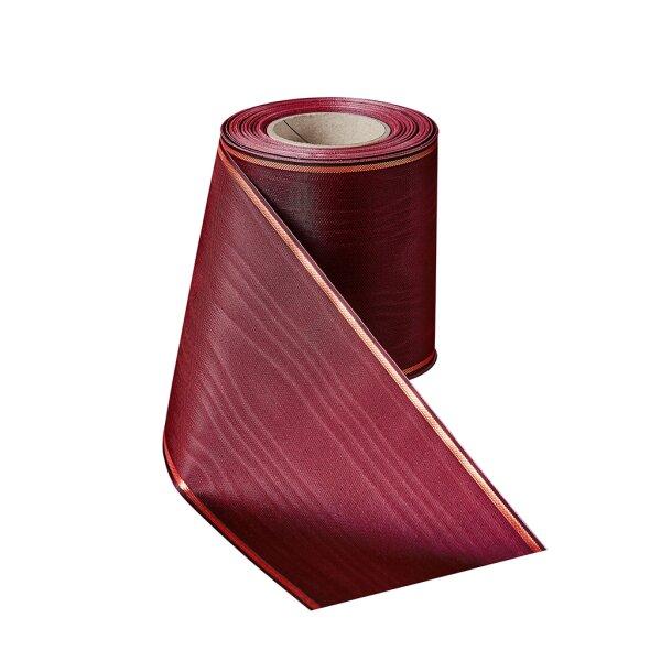Moiré rubinrot 150mm / 25m schmaler Rand