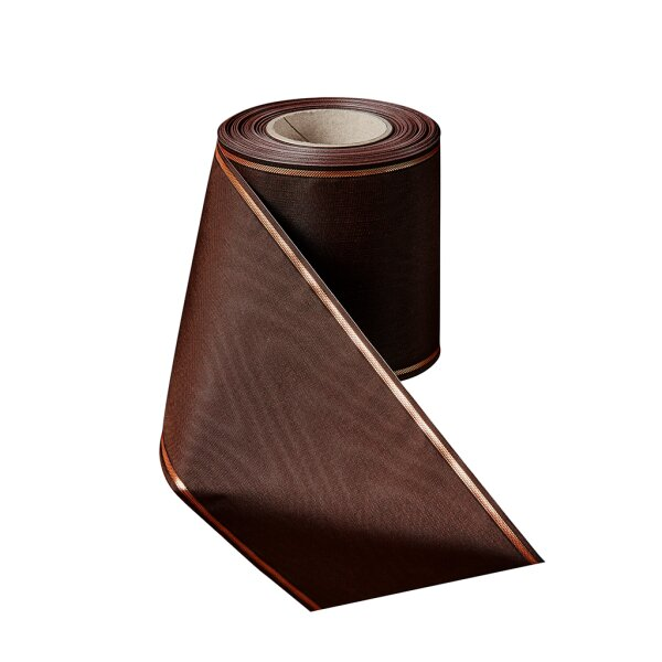 Moiré rostbraun 150mm / 25m schmaler Rand
