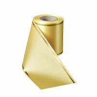Supersatin mais 100mm / 25m Strichrand gold