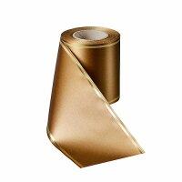 Supersatin goldbrau150mm / 25m Strichrand gold
