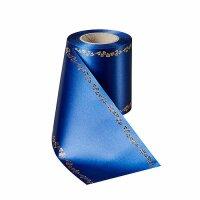 Supersatin enzianblau 100mm / 25m Efeurand gold