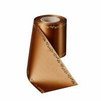 Supersatin goldbraun/ 150mm / 25m Rand Efeurand gold