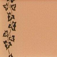 Supersatin pfirsich 125mm / 25m Efeurand schwarz
