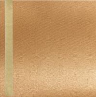Thermosatin apricot 100mm / 25m Strichrand gold