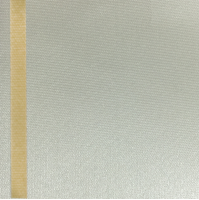 Thermosatin creme 100mm / 25m Strichrand gold