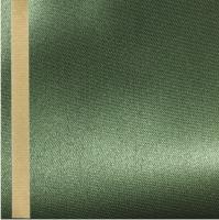 Thermosatin moos 125mm / 25m Strichrand gold