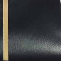 Thermosatin schwarz 75mm / 25m Strichrand gold