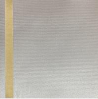 Thermosatin ecru 75mm / 25m Strichrand gold