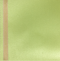Thermosatin lindgrün 100mm / 25m Strichrand gold