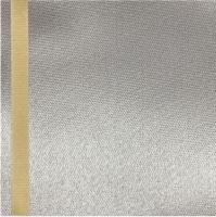 Thermosatin grau 100mm / 25m Strichrand gold
