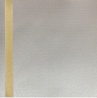 Thermosatin ecru 125mm / 25m Strichrand gold