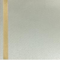 Thermosatin creme 125mm / 25m Strichrand gold