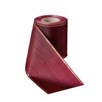 Moiré rubinrot 75mm / 25m schmaler Rand