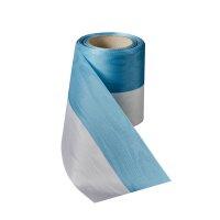 Moiré Nationalband 50mm hellblau-weiß / 25m
