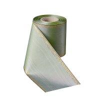 Moiré mistelgrün 100mm / 25m breiter Rand