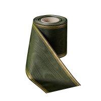 Moiré lorbeergrün  150mm / 25m breiter Rand