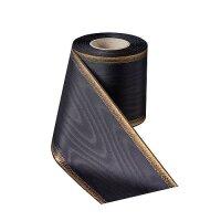 Moire schwarz 200mm/25m breiter Rand