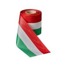 Moiré Nationalband 50mm grün-weiß--rot...