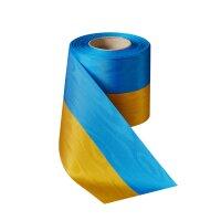 Moiré Nationalband 75mm blau-gelb / 25m