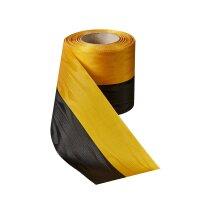 Moiré Nationalband 75mm schwarz-gelb / 25m