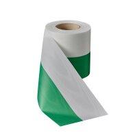 Moiré Nationalband 75mm grün-weiß / 25m