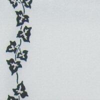 Supersatin weiß 075mm / 25m mit Efeurand schwarz