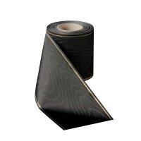 Moiré schwarz 125mm / 25m schmaler Rand