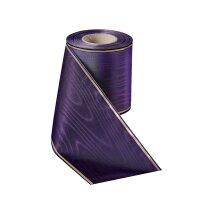 Moiré violett 125mm / 25m schmaler Rand