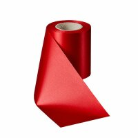 Supersatin rot 150mm / 25m ohne Rand