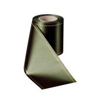 Supersatin moosgrün 075mm / 25m mit Z-Rand gold