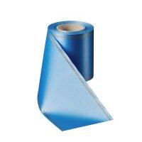 Supersatin kobaltblau 075mm / 25m mit Z-Rand gold