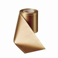 Supersatin goldbraun 075mm / 25m mit Z-Rand gold