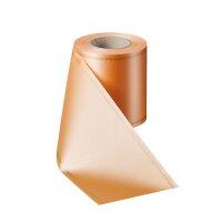 Supersatin pfirsich 075mm / 25m mit Z-Rand gold