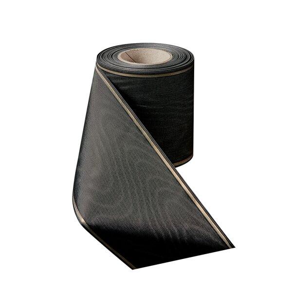 Moiré schwarz 150mm / 25m schmaler Rand