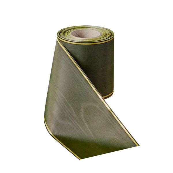 Moiré zederngrün 150mm / 25m schmaler Rand