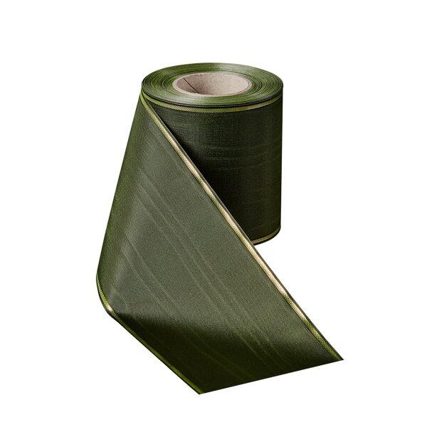 Moiré lorbeergrün 150mm / 25m schmaler Rand
