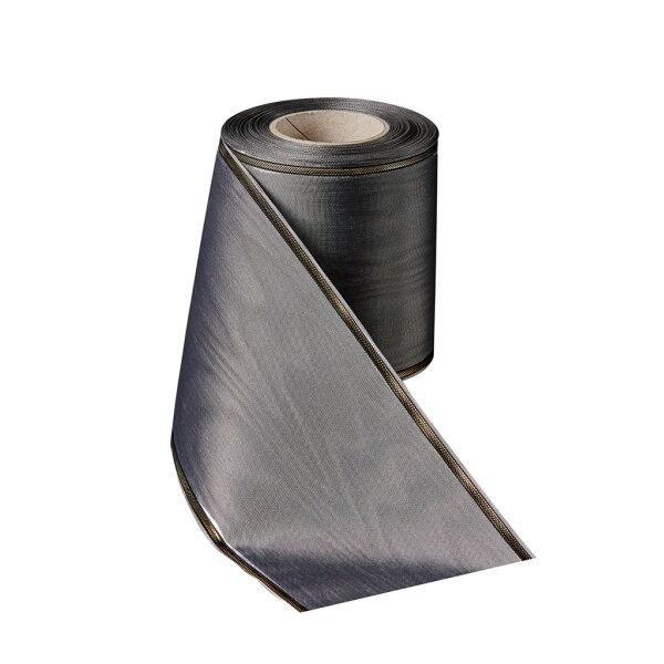 Moiré frostgrau 150 mm / 25m schmaler Rand